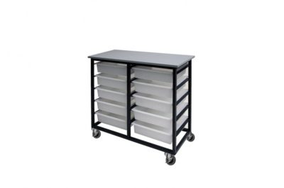 10 Mobile Tote Box Metal Trolley_TBTR10GR
