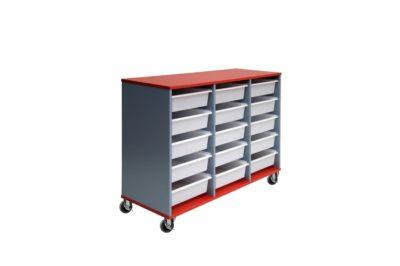 15 Mobile Tote Box Melamine Trolley_TBMTR15REBU