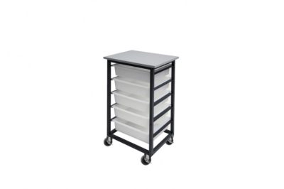 5 Mobile Tote Box Metal Trolley_TBTR5GR