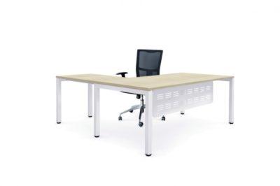 Plaza Workstation + Tec modesty panel + Brighton Mesh