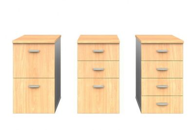 fixed pedestals with tops