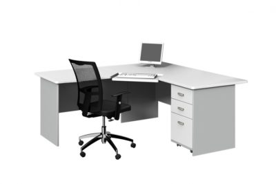 3PCE SPLAY WORKSTATION WITH ADJUSTABLE KEYBOARD