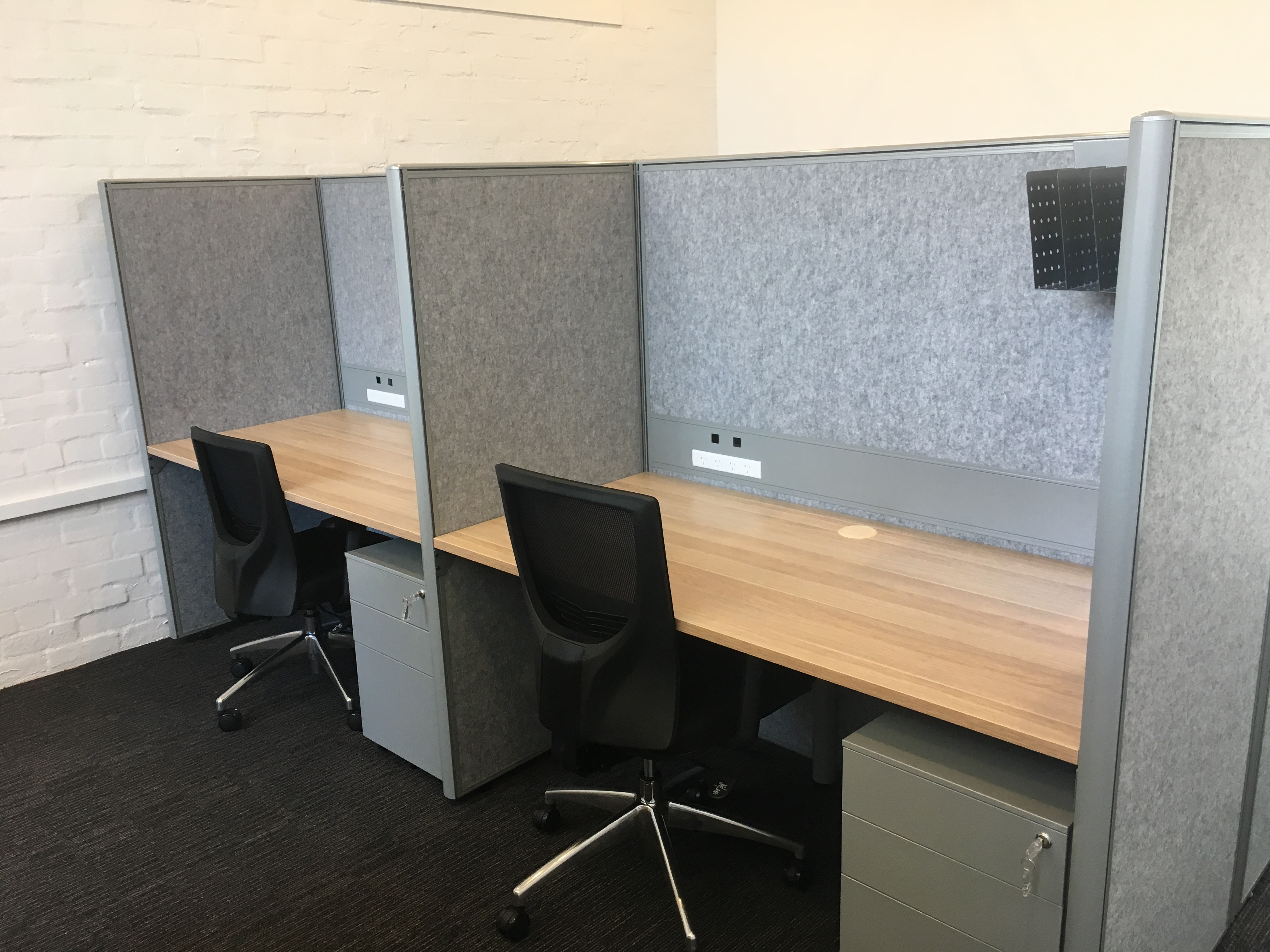 Acoustic 50 Mm Screen With Eco Panel Ddk Commercial Office Furniture